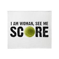 See Me Score Tennis Throw Blanket