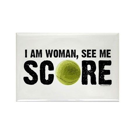 See Me Score Tennis Rectangle Magnet (100 pack)