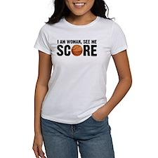 See Me Score Basketball Tee