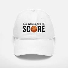 See Me Score Basketball Baseball Baseball Cap