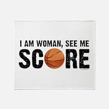 See Me Score Basketball Throw Blanket