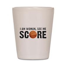 See Me Score Basketball Shot Glass