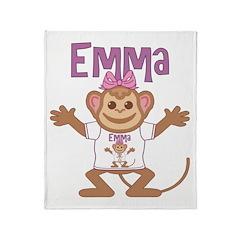 Little Monkey Emma Throw Blanket