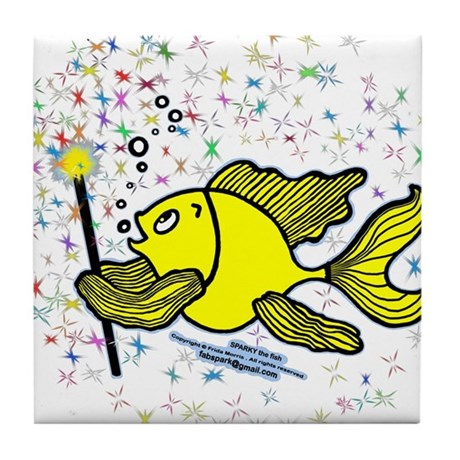 Make a wish Fish Tile Coaster