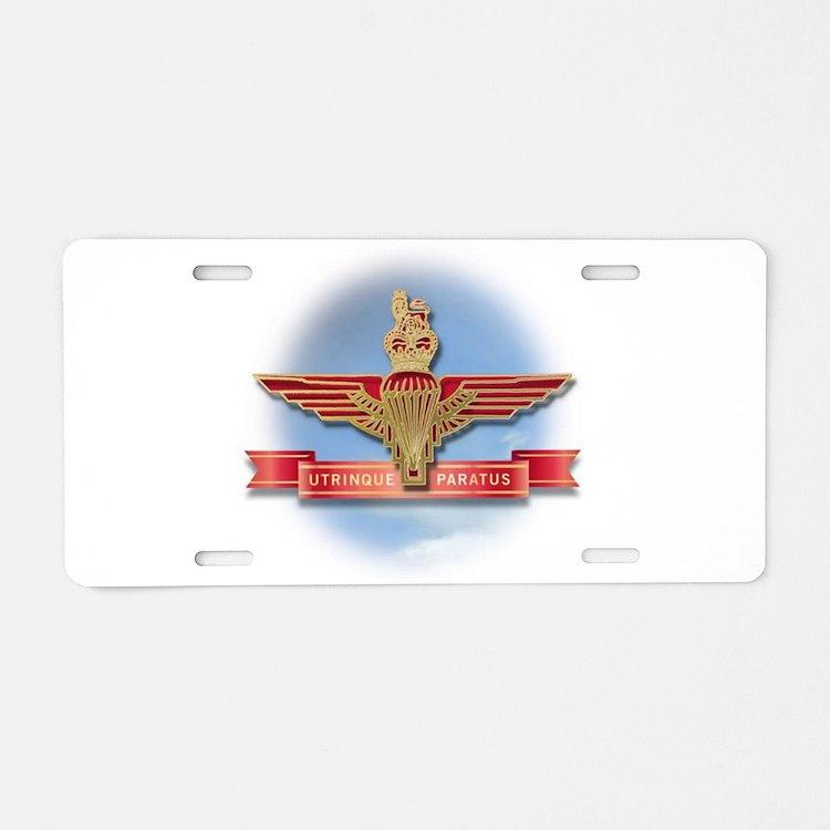 Cute Parachute Aluminum License Plate