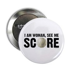 "See Me Score Softball 2.25"" Button"