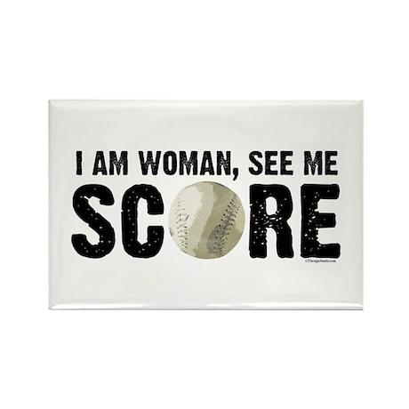 See Me Score Softball Rectangle Magnet