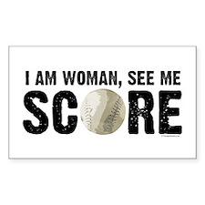 See Me Score Softball Decal