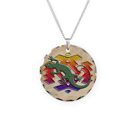 Gecko Southwest Necklace Circle Charm