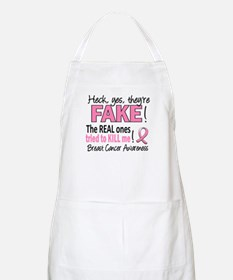 Yes They're Fake Breast Cancer Apron