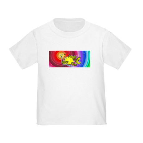 Make a wish fish Fireworks Toddler T-Shirt