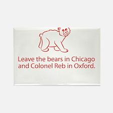 No Bear Mascot Rectangle Magnet