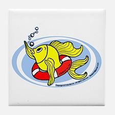 Help Fish Tile Coaster