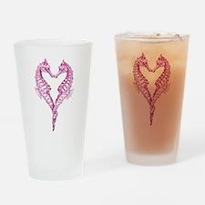 Seahorses heart Drinking Glass