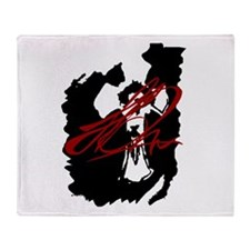 The Lukas Rossi Tattoo Series Throw Blanket