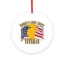 WAC Veteran Ornament (Round)