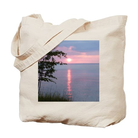 Sunset Lake Superior Tote Bag