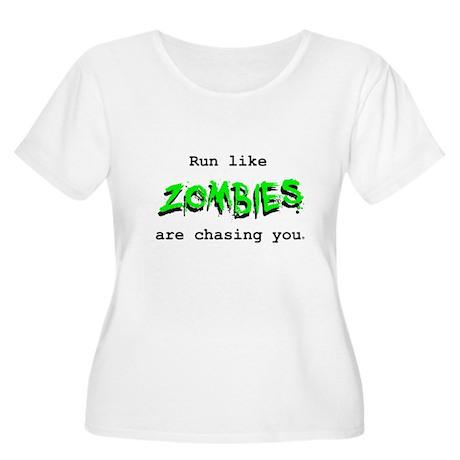 Green Logo Women's Plus Size Scoop Neck T-Shirt