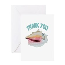 Beachy Thank You Greeting Card