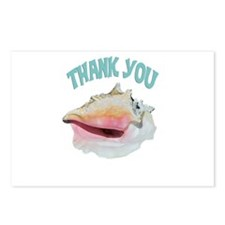 Beachy Thank You Postcards (Package of 8)