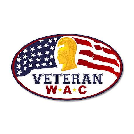 WAC Veteran 38.5 x 24.5 Oval Wall Peel