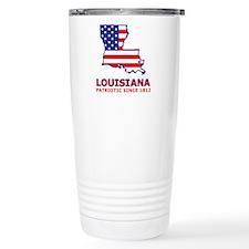 LA USA Flag Map 2 Travel Mug