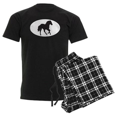 Running Horse Men's Dark Pajamas