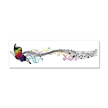 Butterfly Music Car Magnet 10 x 3