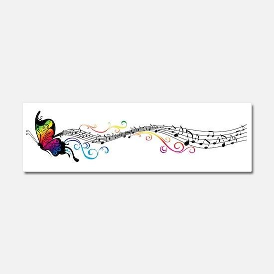 Butterfly Music Car Magnet 10 x 3
