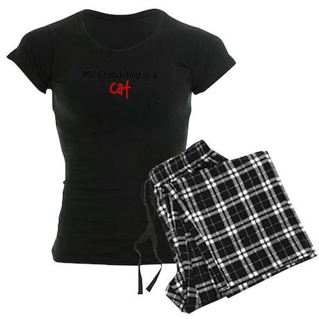 Cat Grandchild Women's Dark Pajamas