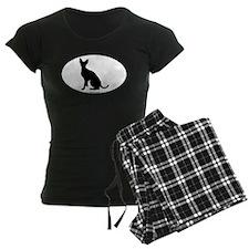 Cornish Rex Silhouette Pajamas