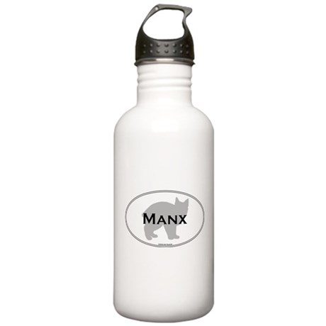 Manx Oval Stainless Water Bottle 1.0L