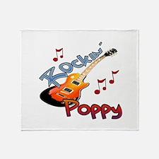 ROCKIN POPPY Throw Blanket