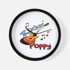 ROCKIN POPPY Wall Clock