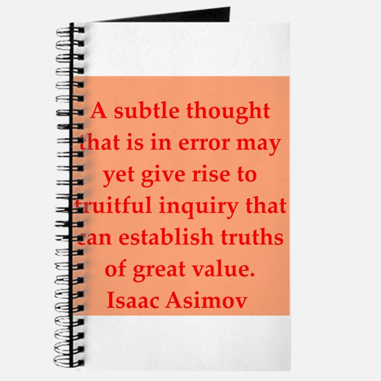 Isaac Asimov quotes Journal