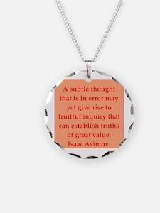 Isaac Asimov quotes Necklace
