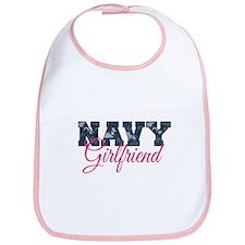Unique Navy girlfriend Bib