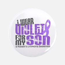 "I Wear Violet 6 Hodgkin's Lymphoma 3.5"" Button"