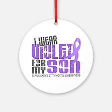 I Wear Violet 6 Hodgkin's Lymphoma Ornament (Round
