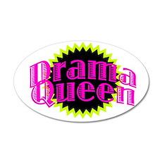 Drama Queen 38.5 x 24.5 Oval Wall Peel