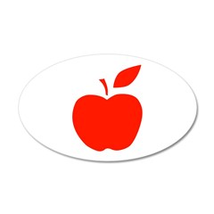 Red Apple 22x14 Oval Wall Peel