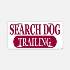 Trailing Dogs Aluminum License Plate