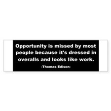 Opportunity is missed Thomas Bumper Sticker
