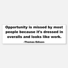 Opportunity is missed Thomas Bumper Bumper Sticker