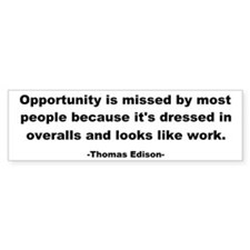Opportunity is missed Thomas Car Sticker