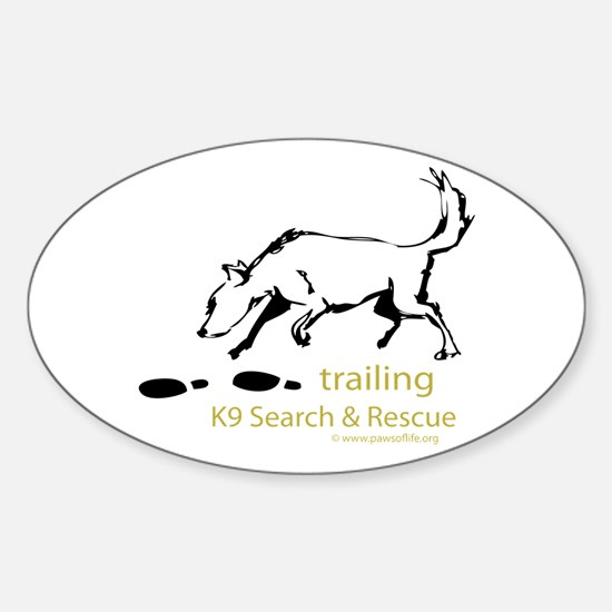 Trailing Sketches Sticker (Oval)