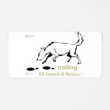 Trailing Sketches Aluminum License Plate
