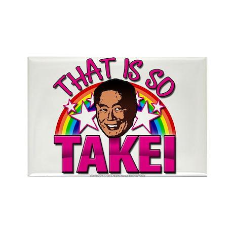 So Takei Rectangle Magnet