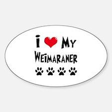 Weimaraner Sticker (Oval)