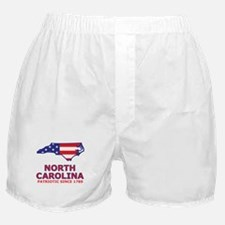 NC USA Flag Map 2 Boxer Shorts
